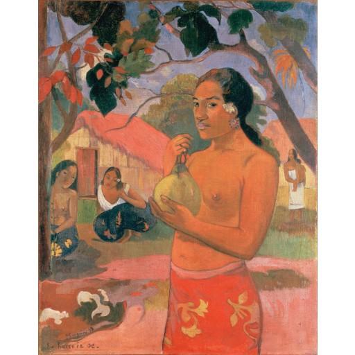 Tablou Femeie ținand un fruct - Paul Gauguin