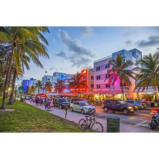 Tablou canvas Miami - South Beach - Ocean Drive