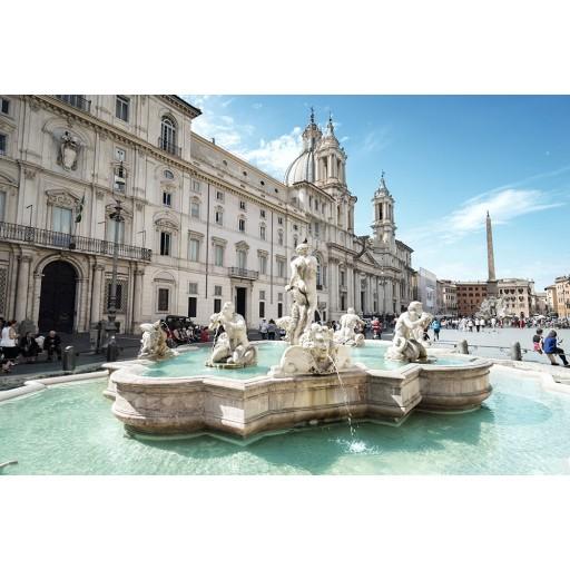 Roma - Piazza Navona - Fontana Del Moro