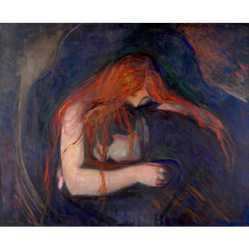 Tablou Vampirul - Edvard Munch
