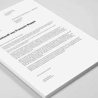 Document A4 Alb / Negru, Simpla Față