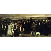Tablou A burial at Ornans - Gustave Courbet