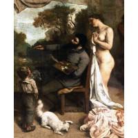 Tablou Atelierul unui pictor - Gustave Courbet