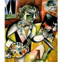 Tablou Autoportret cu șapte degete - Marc Chagall