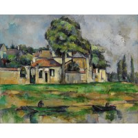 Tablou Banks of the Marne - Paul Cezanne