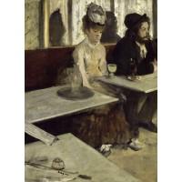 Tablou Bautorii de absint - Edgar Degas