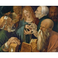 Tablou Christos in mijlocul doctorilor - Albrecht Durer