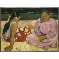 Tablou Femei tahitiene pe plajă - Paul Gauguin