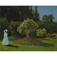 Tablou Femeie in gradina - Claude Monet