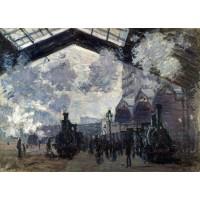Tablou Gara Saint Lazare - Claude Monet