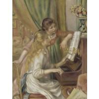 Tablou Jeunes filles au piano - Pierre Auguste Renoir