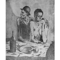 Tablou Le repas frugal - Pablo Picasso