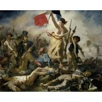 Tablou Libertatea conducand poporul - Eugene Delacroix
