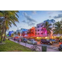 Tablou canvas Miami - South Beach - Ocean Drive