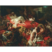 Tablou Moartea lui Sardanapalus - Eugene Delacroix