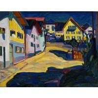 Tablou Murnau Burggrabenstrasse - Wassily Kandinsky