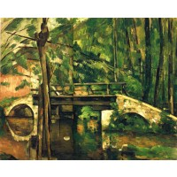 Tablou Podul de la Maincy - Paul Cezanne