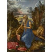 Tablou Sfantul Ieronim în sălbăticie - Albrecht Durer
