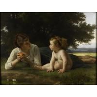 Tablou Tentatie - Adolphe W. Bouguereau