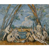 Tablou The Large Bathers - Paul Cezanne