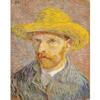 Van Gogh - Autoportret 1887 cu pălărie de paie