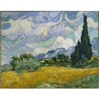 Van Gogh - Lan de grâu cu chiparoși