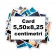 Poze magnetice format card 5,50x8,25 cm pe hartie lucioasa glossy sau mata